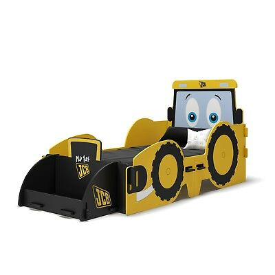 Boy Girl JCB Digger Junior Toddler Bed Cotbed 140 70 Yellow Themed Tractor