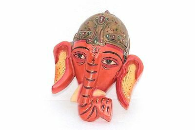 Vintage Old Style Rare Ganesha New Mask Panel Decorative Collectible F-88