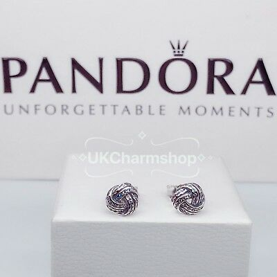 New Genuine Pandora Sparkling Love Knots Stud Earring S925 With Gift Pouch
