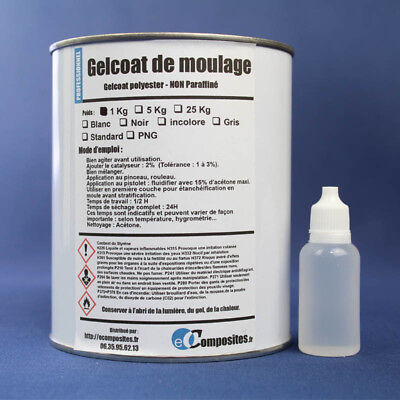 Gelcoat INCOLORE polyester de moulage 1KG