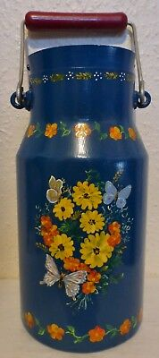 Superb Vintage French Barge Ware Hand Painted Milk Churn By S. Galile 1999 (Bc5)
