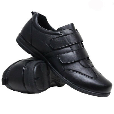 Mens Casual Faux Leather Wide Fit Walking Running Gym Trainers Driving Shoes New