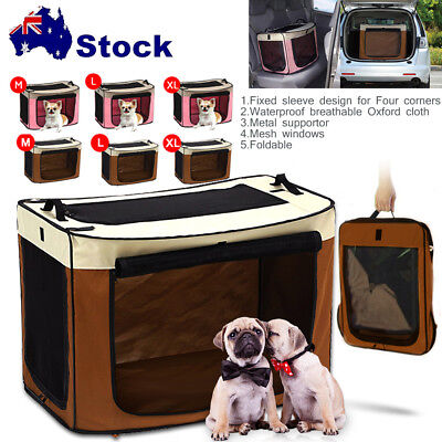 Fabric Foldable Pet Dog Cat Carrier Soft Crate Cage Travel Bag Kennel Portable W