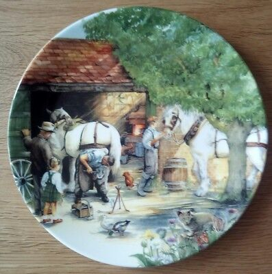 Royal Doulton Collectors Plate The Blacksmith From Old Country Crafts, boxed