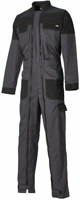 Dickies Grafter Duo Tone Double Zip Work Coveralls Grey & Black (Various Sizes)