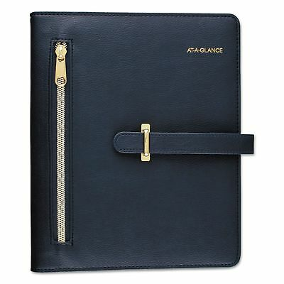 """AT-A-GLANCE Day Runner Faux Leather Fashion Starter Set, 4 7/8"""" x 8"""", Navy, 2019"""