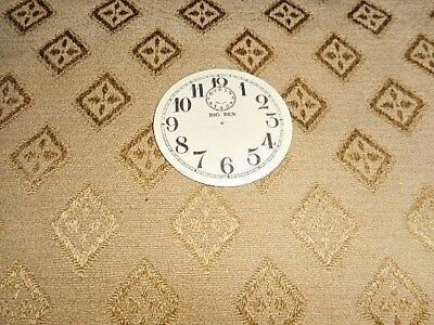 "Round 'Big Ben' Paper Clock Dial- 2"" M/T-Arabic - MATT CREAM -Face/ Parts/Spares"