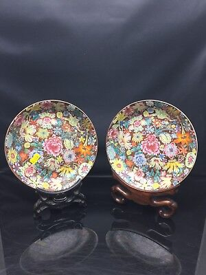 A Pair Chinese Families Rose Plate QianLong Mark And Period 18th Century