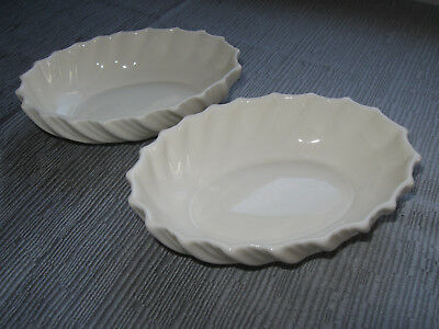 2 Stunning Lenox Oval Candy Nut Dishes Bowls Fine China Scalloped Edge