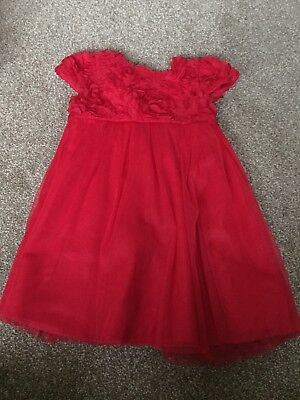 NEW Ex M/&Co 12 RRP £49.00 Embellished Red Overlayer Chiffon Shift Dress Occasion