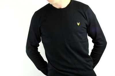 Lyle & Scott - Cotton Merino Crew Neck Jumper - True Black - KN400VC
