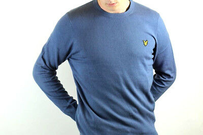 Lyle & Scott - Cotton Merino Crew Neck Jumper - Indigo Blue - KN400VC