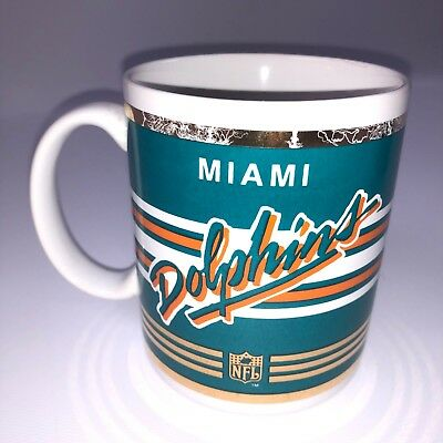 NFL Miami Dolphins Ceramic Coffee Mug - Officially Licensed Papel Giftware Used