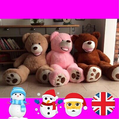 "Light Brown Extra Large Teddy Bear 160 cm XXL Huge Giant Big XL Soft Toy 63"" 🐻"