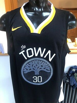 various colors cadf2 7a041 GOLD STATE WARRIORS The Town jersey 20 Curry Size Small