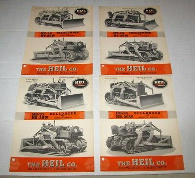 1949 The Heil Co. Oliver & Drott Bulldozers Dealer Brochures W/price List