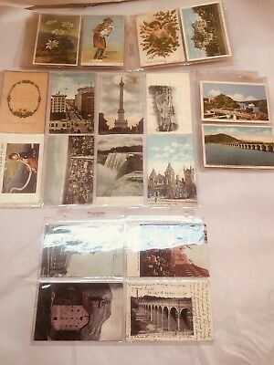 18 Early 1900s Post Cards Fathers Day Holiday Travels