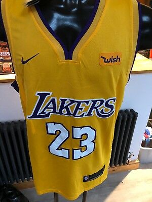 299f3ce59 LAKERS YELLOW JERSEY 23 Lebron James Med - £14.99