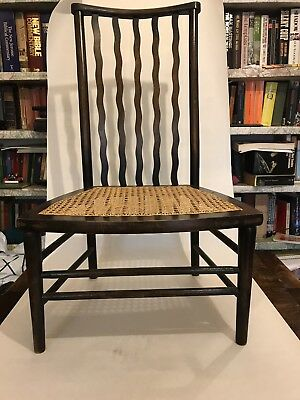Arts & Crafts Nursing Chair with Caned Seat