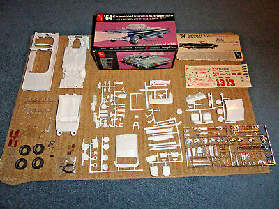 Amt 1/25 '64 Chevy Impala Conv. W/working Lights 3In1 Model Kit Unbuilt 6714-200