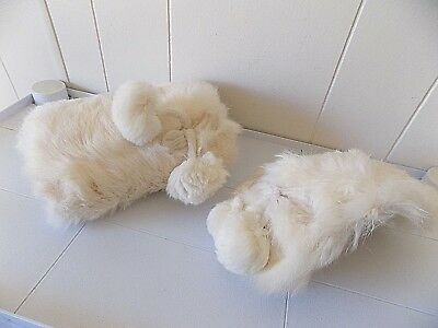 Vintage C.1940s-50s Child's White Fur Muff & Cap