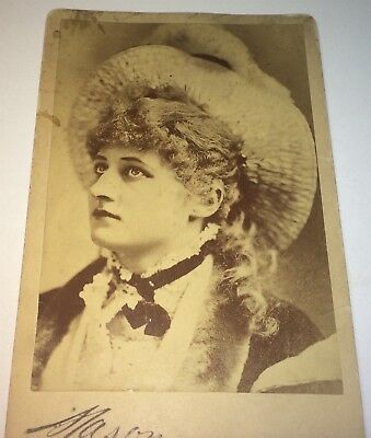 Rare Antique Victorian American Fashion Actress Mary Anderson! Cabinet Photo! US