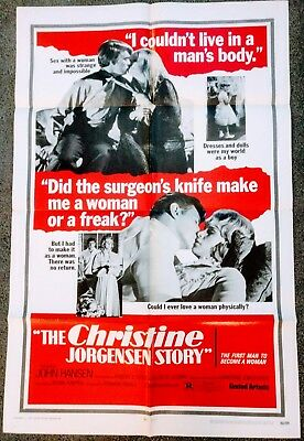 THE CHRISTINE JORGENSON STORY Original US 1-Sheet Movie Poster 1970 - LGBT
