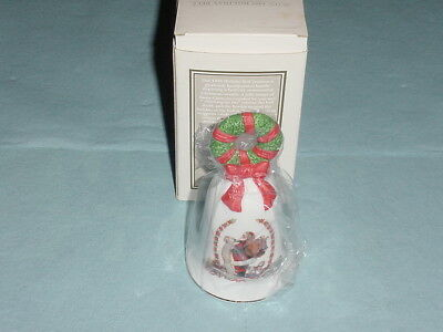 Holiday bell Christmas Santa Claus 1995 Avon vintage