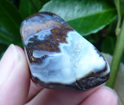 Beautiful Large Polished Agate Tumble Stone with exposed Crystals. 32g.