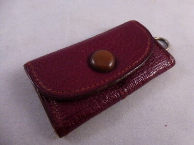 Edwardian Burgundy Leather Sovereign Case for 6 Sovereigns