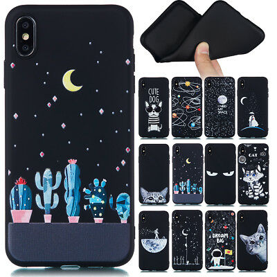 For Samsung Galaxy S8 S9 Plus J3 J5 J7 Soft Silicone Painted TPU Back Case Cover