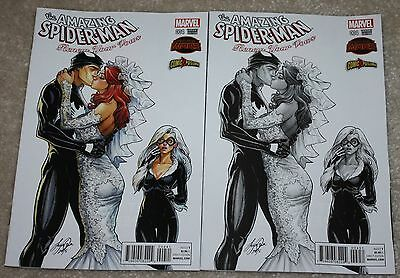 Amazing Spider-Man Renew Your Vows 4 Siya Oum Mj Color B&w Variant Set 606 3 Hot