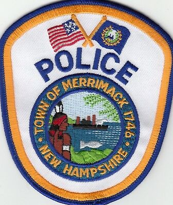 Merrimack Police Patch New Hampshire Indian Scene Nh