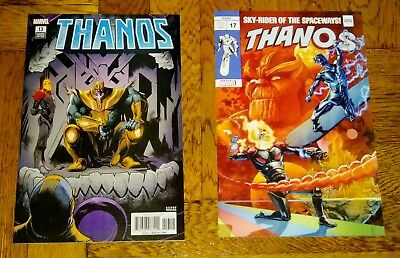 THANOS #13 2nd Print 1st Cosmic Ghost Rider THANOS #17 Silver Surfer Variant NM