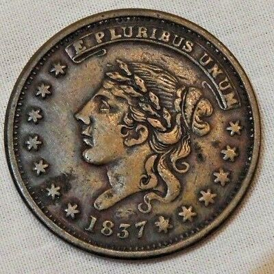 1837 Liberty - Not One Cent Hard Times Token - Free Shipping!