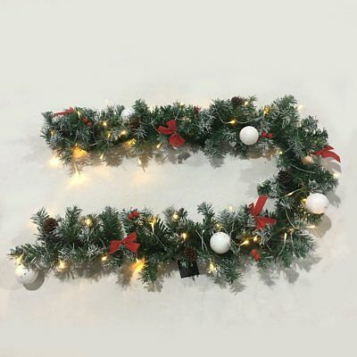Choice of 6ft(180cm) Luxury Christmas Garlands Lighting Plain/Snowy/ Pine Cones