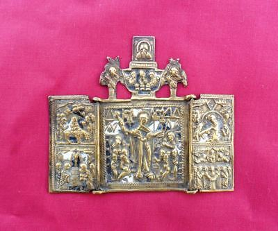 Russia Bronze Icon 19th Century