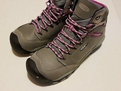 9cae6b4a421 KEEN CANBY AT WP (ALUMINUM TOE) Lace Up Boots WOMEN'S SIZE 8 WIDE ...