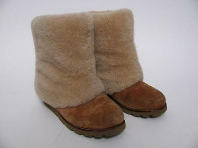 bc67fc10800 UGG AUSTRALIA PATTEN Sheepskin Shearling Fur Cuff Chestnut Ladies Boots  Shoes~7