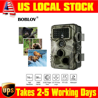 "CT009 16MP 1080p Full HD Hunting Trail Camera Farm Scout IP66 120°PIR 2.4"" LCD"