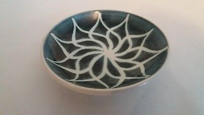 British Brixham Pottery Devon Studio Pottery Decorative Blue Dish