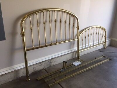 Solid Brass Bed, queen size by Ethan Allen