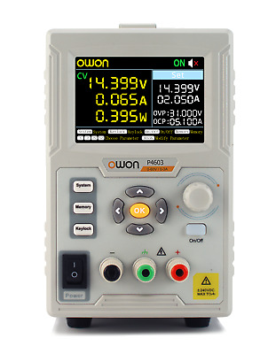 OWON P4603 Single Channel 180W maximum output 0 - 60V / 0 - 3A output range Line