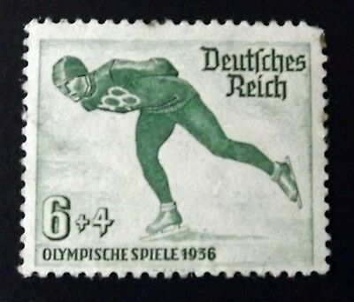 """Germany / Third Reich 1935. """"Winter Olympics"""" 6pf. + 4pf. Green. unmounted mint."""