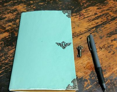 Light Blue Genuine Leather Journal | Grimoire - Book of Shadows