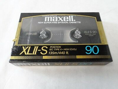Maxell XLII-S 90 NEW Made in Japan IEC Type II High (Cr02) Single Sealed NOS