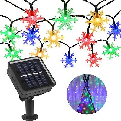 Solar String Lights Outdoor, Beinhome 21.3 Feet 30 LEDs Waterproof Snowflake Sol