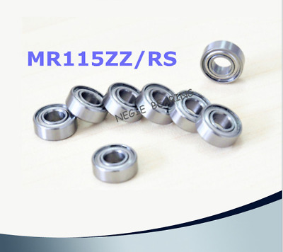 Rubber Double Sealed Ball Bearing MR126RS 6*12*4 6x12x4 mm MR126-2RS 5 PCS
