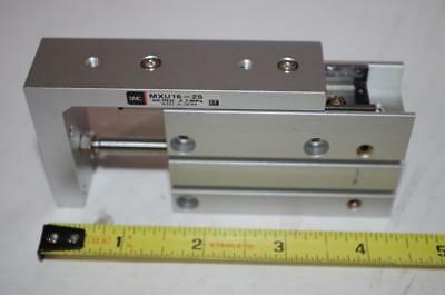 Smc Pneumatic Mxu16-25  Pneumatic Actuator Linear Slide  New!
