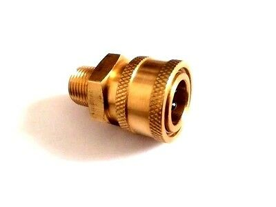 """Pressure Washer 3/8"""" Male (NPT) Brass Quick Connect Coupler"""
